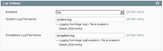 logging Magento
