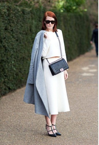 chanel bag and valentino shoes