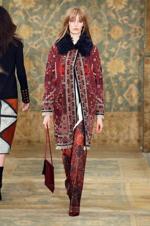 Estampas psicodélicas, casacos, inverno 2015