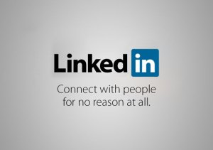 """Not the real LinkedIn tagline, but suggested as a more """"honest"""" version."""