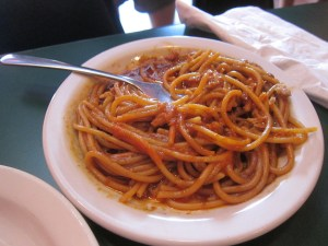 BBQ Spaghetti from Neely's Interstate Barbecue