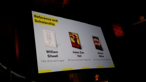 Award screen with nominees