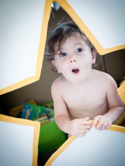 toddler looking surprised