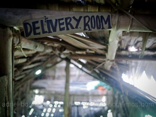 Delivery room of Bamio, Western Province, Papua New Guinea.