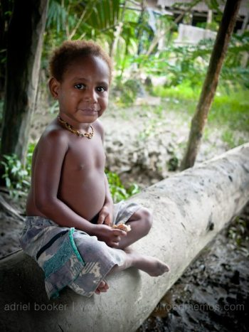 Child of Bamio, Western Province, Papua New Guinea.