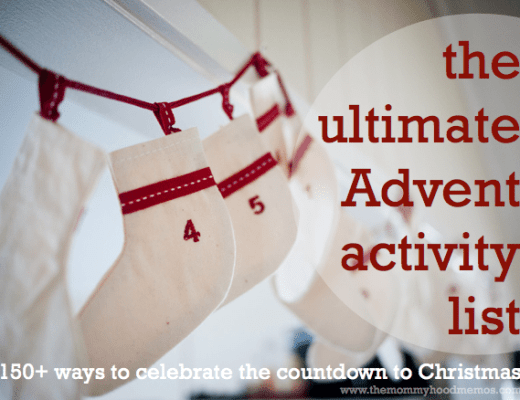 100+ Advent or Christmas countdown activities in different categories (crafting, cooking, faith-based, serving, winter, summer, outings, at home, etc). Skim the list and choose 24 that suit your family!