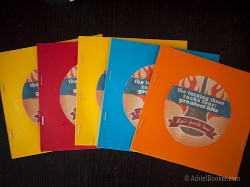 Rockstar Kids Birthday Party CD mix of favorite kids songs as a party favor