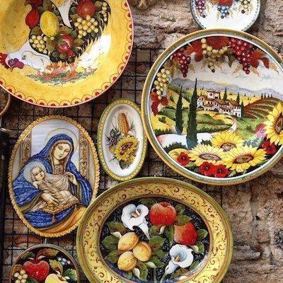 Tuscan ceramics.