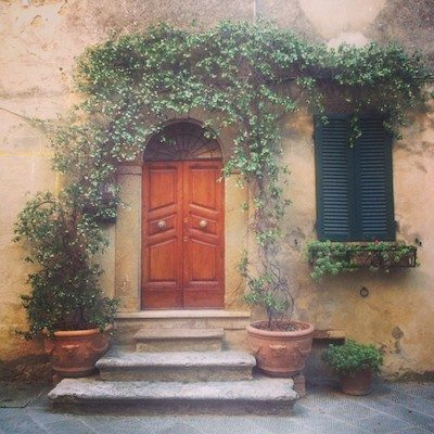 Tuscany - where even (especially?) a door is a work of art.