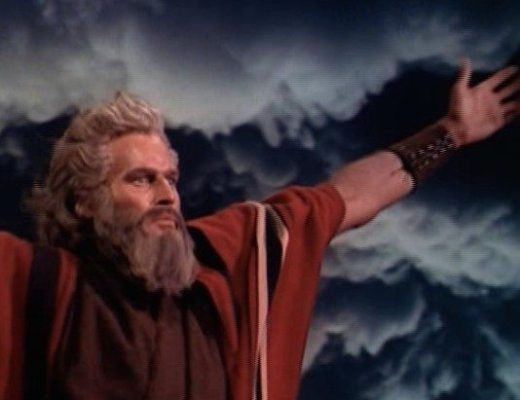 Charlton Heston in The Ten Commandments square
