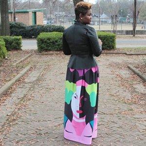 face print skirt