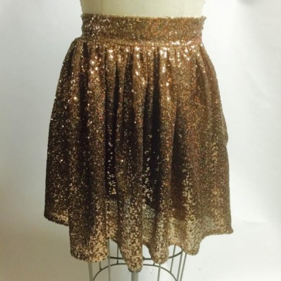 sequin short skirt