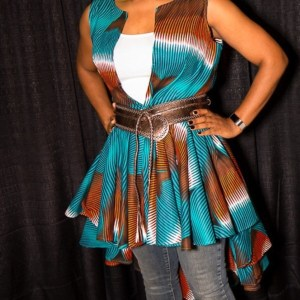 high low vest with full skirt