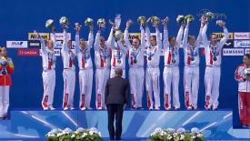 2015 FINA World Championship: Russia wins Synchro Free Combination