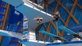2015 FINA World Championship: USA 9th in Mixed Synchro Springboard Diving