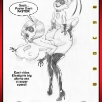Dash rides Elastigirl's big plump ass at super speed!