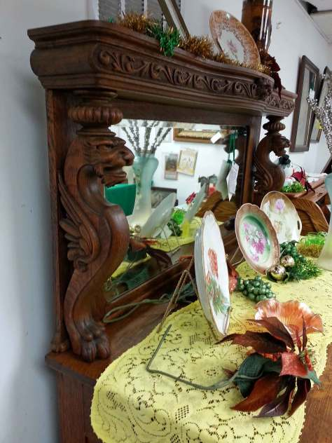 Dragon themed side board/buffet thing Denise desperately wanted at a consignment store but couldn't afford
