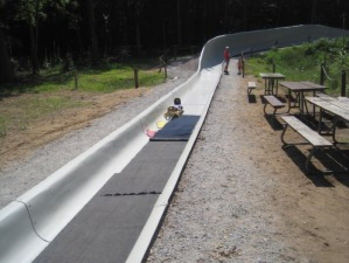 luge summer track at Muskegon Sports complex