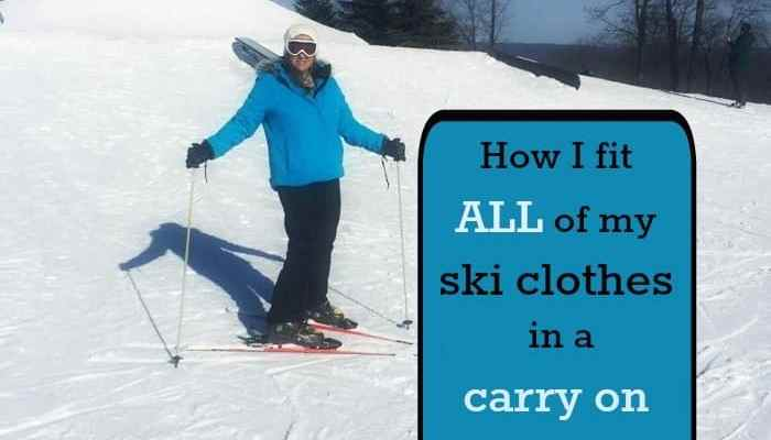 How I fit all of my ski clothes in a carry on suitcase
