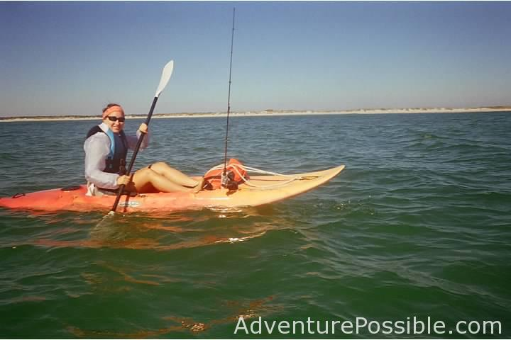 Near shore kayak fishing lea island