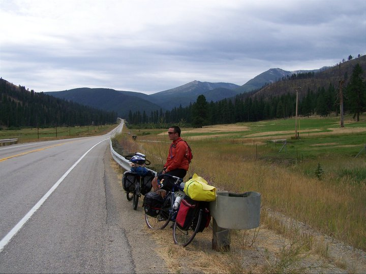 Self-contained bike ride across America.