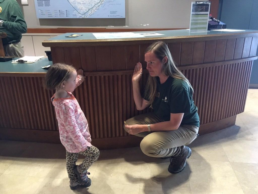 Jane getting sworn in as a Everglades Junior Ranger