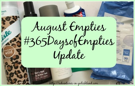 August Empties | #365DaysofEmpties Update