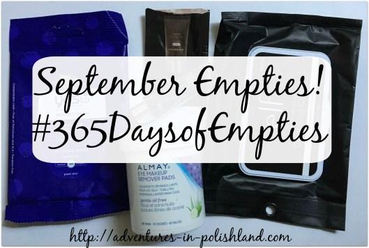 September Empties | #365DaysofEmpties Update