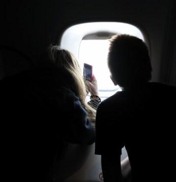 Taking photos on Antarctica Flights