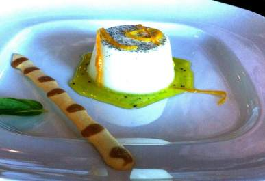 A dessert from the MS Oosterdam Galley