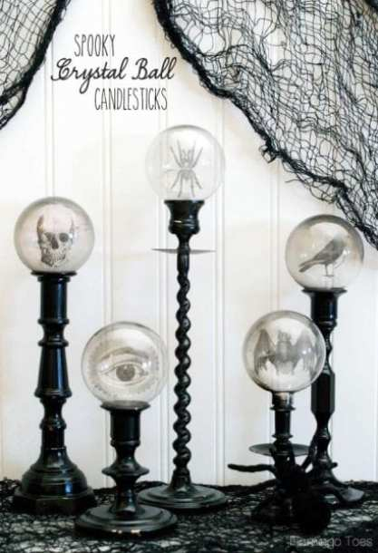 Spooky Crystal Ball Candlesticks - HMLP 58 Feature