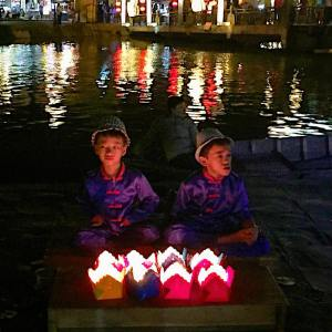 Spotted these two selling candles by the riverside in Hoihellip