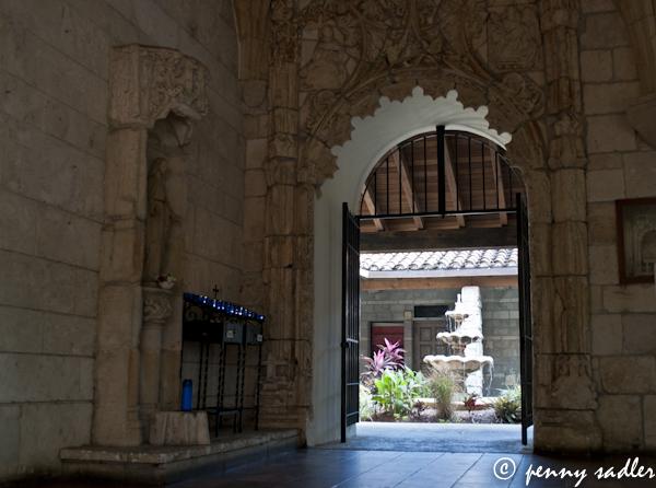 ©penny sadler 2013 doorway at the Cloisters of St. Bernard de Clairvaux