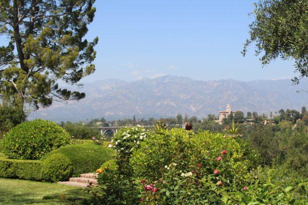 View of the San Gabriel Mountains