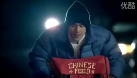 Tencent 2011 Chinese New Year Advertisement: Son delivering Chinese take-out in New York.