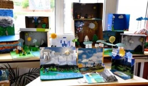 Exposição de trabalhos sobre o ciclo da água