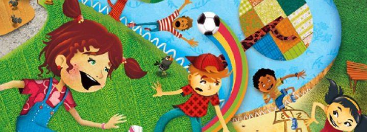 Fragmento do Cartaz do Salto Mágico - Meninos a brincar