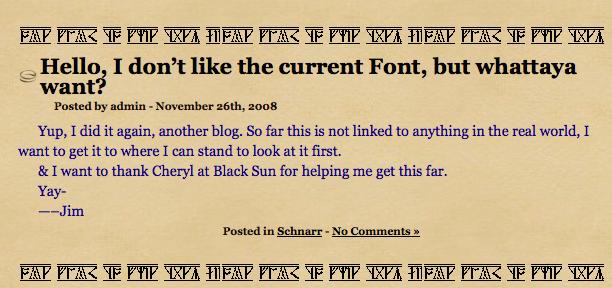 Screenshot of earlier blog.