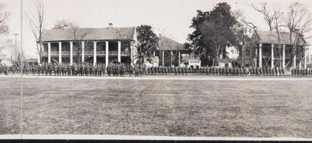 General Pershing reviewing troops (Library of Congress, February 1920)
