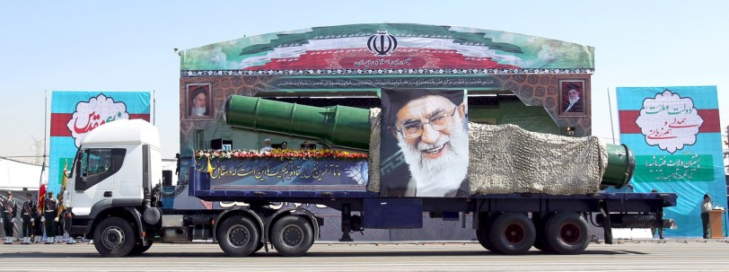 A-military-truck-carrying-a-missile-and-a-picture-of-Irans-Supreme-Leader-Ayatollah-Ali-Khamenei-is-seen-during-a-parade-marking-the-anniversary-of-the-Iran-Iraq-war-1980-88-in-Tehran-September-22-2015