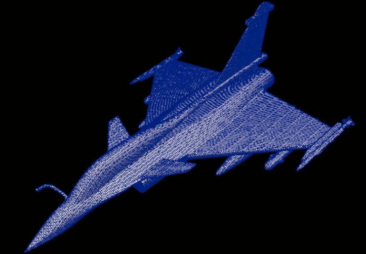 dassault rafale openfoam meshing velocity CFD