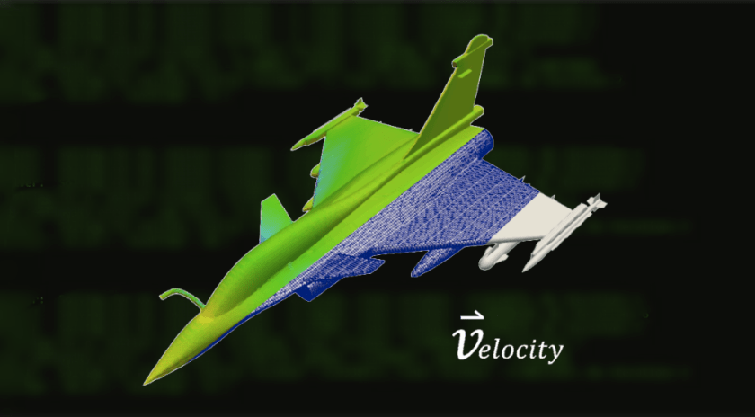 computational fluid dynamics (CFD) of aircraft with velocity