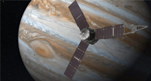 Juno Spacecraft orbiting Planet Jupiter Picture