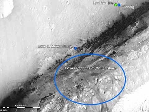 Curiosity Landing Map Picture