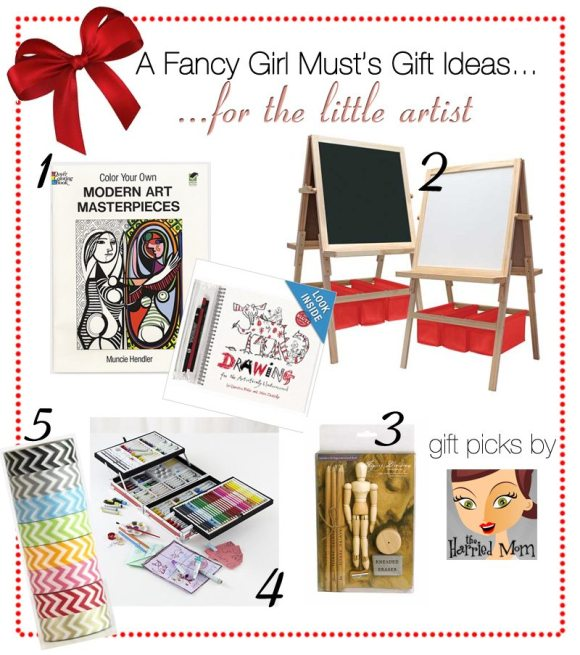 2013 Holiday Gift Guide: Gifts for the Little Artist | AFancyGirlMust.com