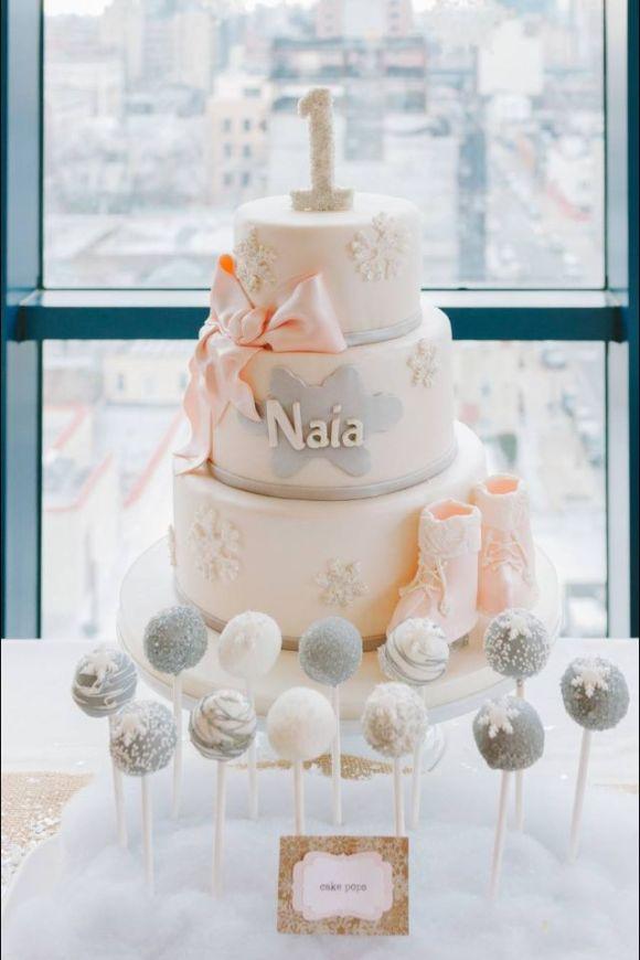 Snowflake 1st Birthday Cake 1st Birthday Cake With