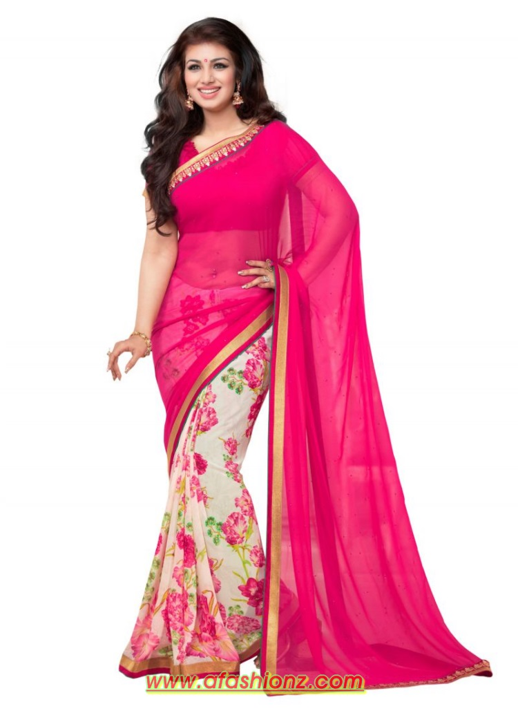 Saree lehenga with blouse dress designs for girls 2015 16 - Photo dressing ...