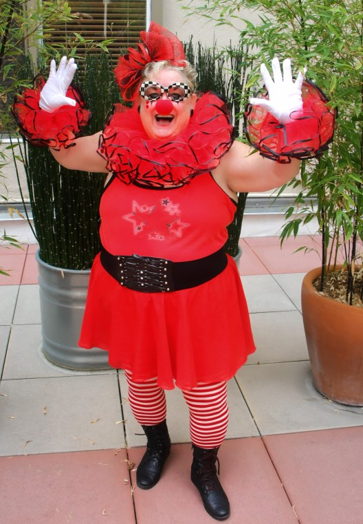 DIY Plus Size Clown Costume