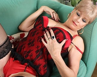 solo milf on couch