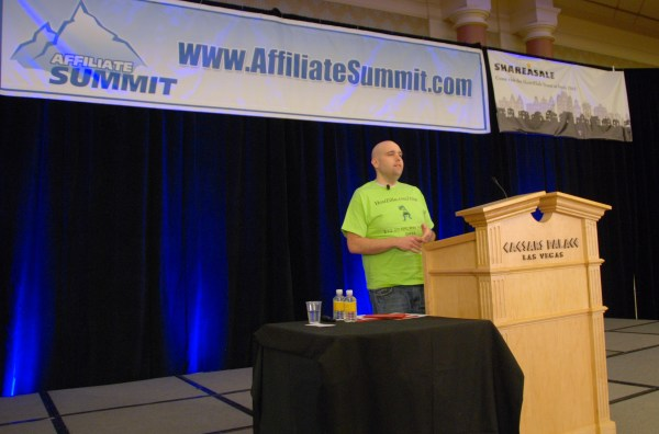 Shoemoey Keynoting Affiliate Summit West 2012